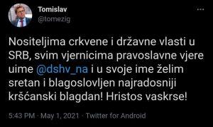 Predsjednik DSHV-a Tomislav Žigmanov čestitao je Uskrs pravoslavnim vjernicima!