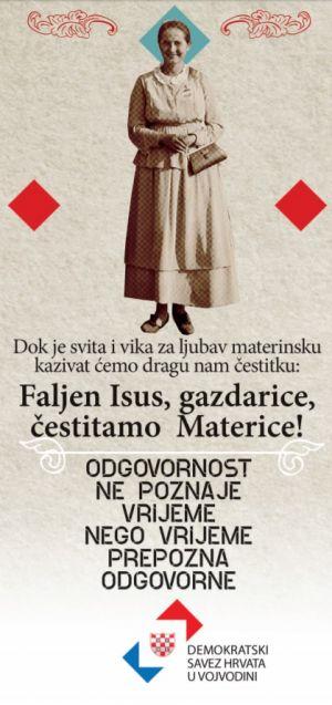 Čestitka Demokratskog saveza Hrvata u Vojvodini za Materice!
