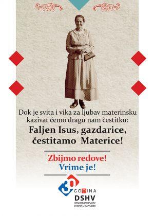 Čestitka za Materice Demokratskog saveza Hrvata u Vojvodini