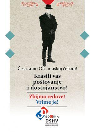 Čestitka za Oce Demokratskog saveza Hrvata u Vojvodini