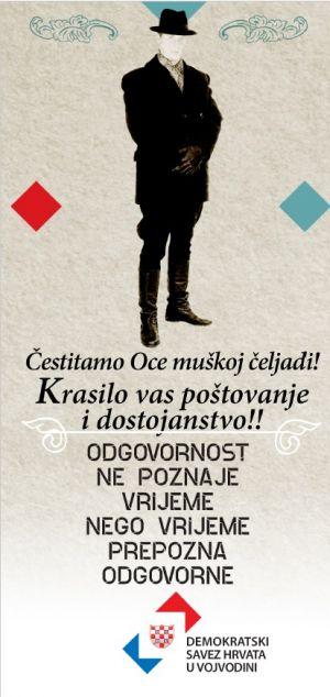 Čestitka Demokratskog saveza Hrvata u Vojvodini za Oce!