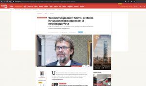 Predsjednik DHSV-a Tomislav Žigmanov u Večernjem listu o položaju Hrvata u Srbiji